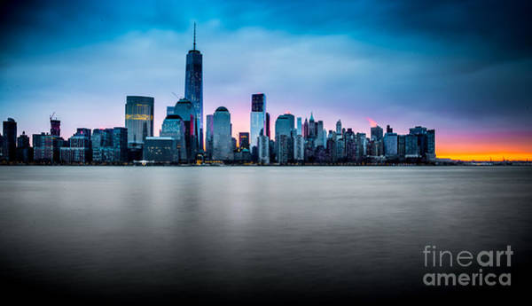 Photograph - Sunrise Skyline by Jim DeLillo