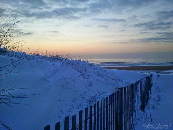 Photograph - Sunrise Snow And Sand Dune by Robert Banach