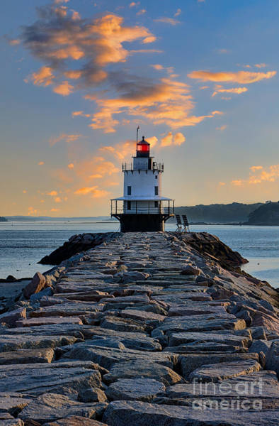 Casco Bay Digital Art - Sunrise Spring Point Ledge by Jerry Fornarotto