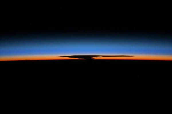 Iss Photograph - Sunrise Sunset Over Earth Seen by Panoramic Images