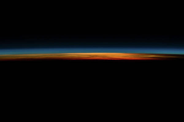 Iss Photograph - Sunrise Sunset Over Philippine Sea Seen by Panoramic Images