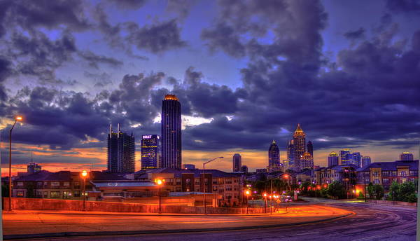 Georgia Power Company Photograph - Sunrise Supreme Atlantic Station Midtown Atlanta  by Reid Callaway