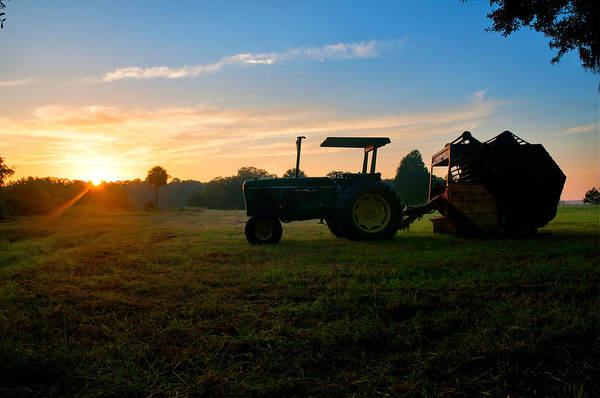 Sunrise Tractor Art Print