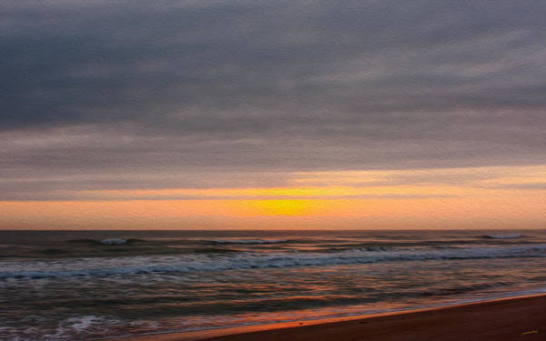 Sunrise Under The Clouds Art Print