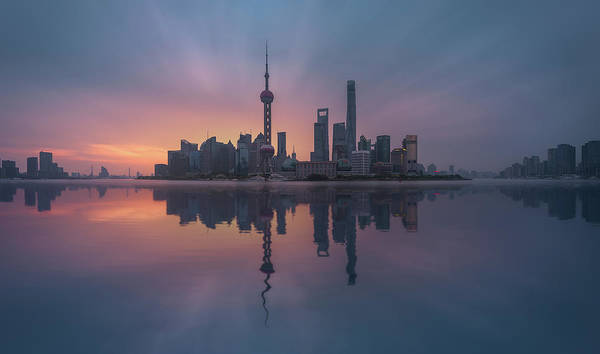 Chinese Photograph - Sunrising Shnaghai by Javier De La