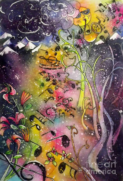 Painting - Suns Sax Spring Song by Carol Losinski Naylor