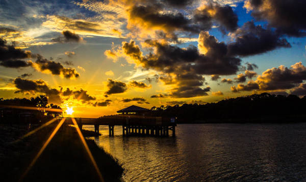 Photograph - Sunscaped Pier by Tyson Kinnison
