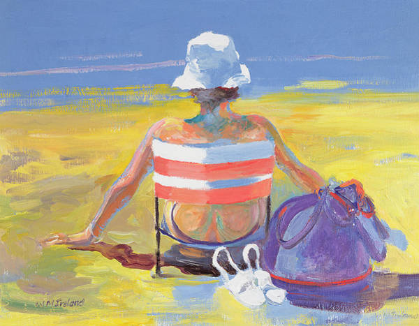 Sunbather Photograph - Sunseeker, 2005 Oil On Board by William Ireland