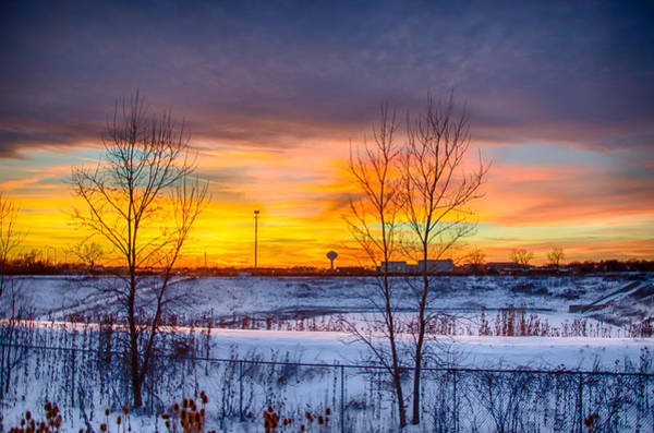 Photograph - Sunset 1-3-14 Northern Illinois 003 by Michael  Bennett