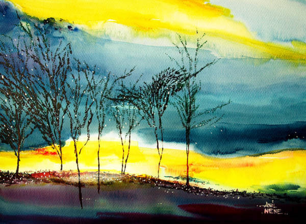 Painting - Sunset 3 by Anil Nene