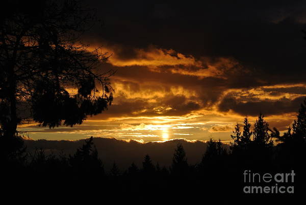 Photograph - Sunset 5 - Pender Island by Sharron Cuthbertson