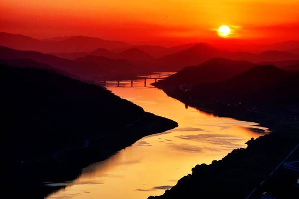 Disappearance Photograph - Sunset And River  by FL collection