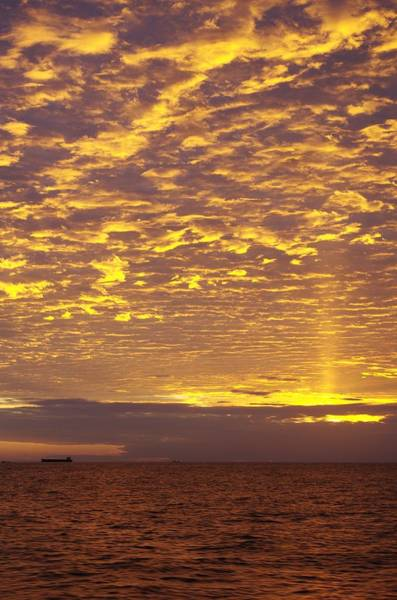 Disappearance Photograph - Sunset And Sea by FL Collection