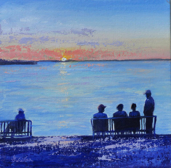 Painting - Sunset And Shadows by Judy Fischer Walton
