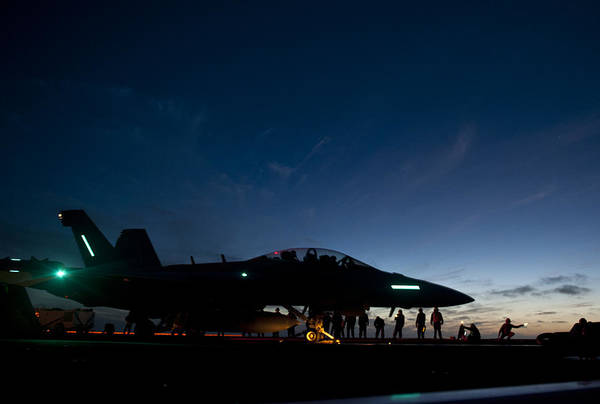 Uss Carl Vinson Photograph - Sunset And The Growler by Mountain Dreams