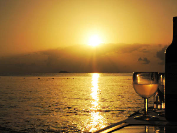 Photograph - Sunset And Wine by Kimberly Perry