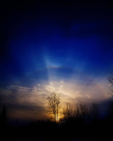 22 Degree Halo Wall Art - Photograph - Sunset Arcs by TJ Larson