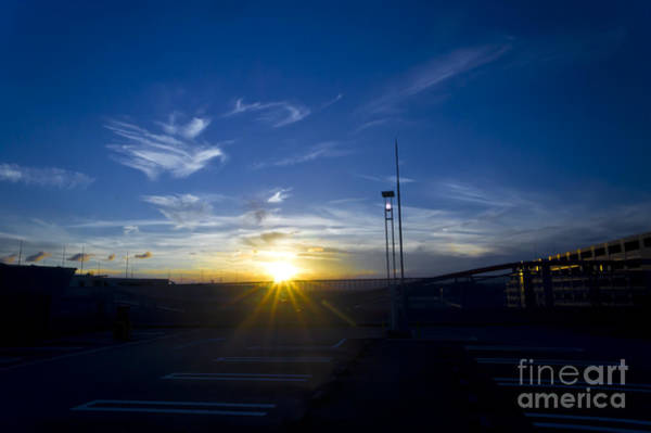 Photograph - Sunset At A Mall Parking Lot by Beverly Claire Kaiya