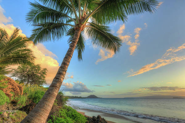 Sunset At Beach, Wailea, Maui, Hawaii Art Print by Stuart Westmorland