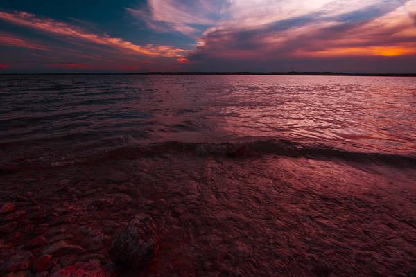 Photograph - Sunset At Benbrook Lake by Jonathan Davison