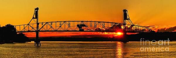 Photograph - Sunset At Bristol Bridge by Nick Zelinsky