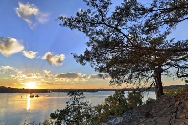 Photograph - Sunset At Cadron Settlement Park - Conway - Arkansas by Jason Politte
