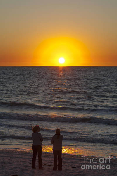 Photograph - Sunset At Clam Pass Beach In Naples Florida by William Kuta