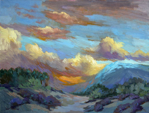 Wall Art - Painting - Sunset At Coachella Valley by Diane McClary