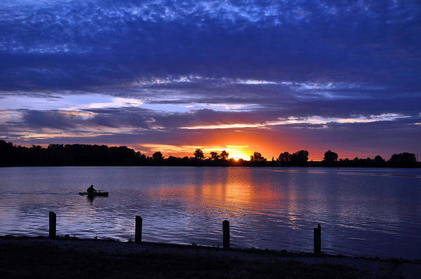 Photograph - Sunset At Creve Coeur Park by Matthew Chapman