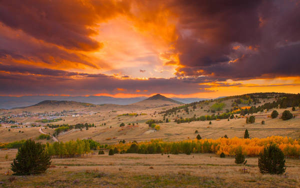 Wall Art - Photograph - Sunset At Cripple Creek Overlook by Tim Reaves