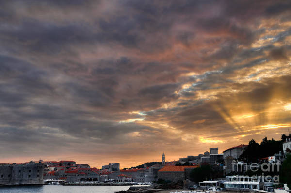 Lokrum Photograph - Sunset At Dubrovnik by Oscar Gutierrez