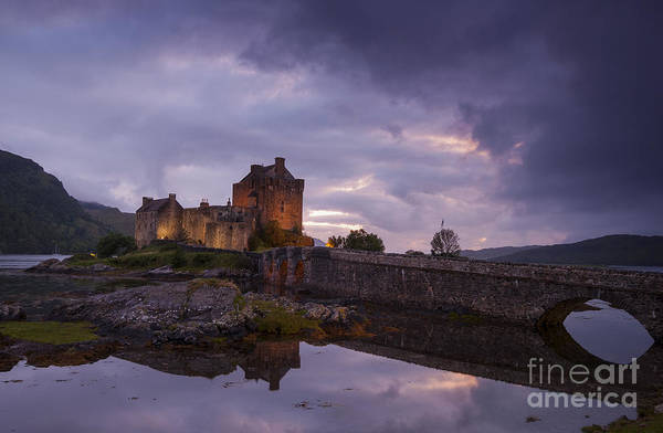 Photograph - Sunset At Eilean Donan Castle by David Lichtneker