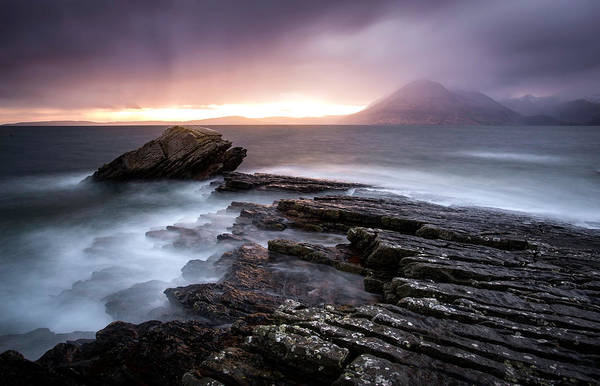Islands Photograph - Sunset At Elgol Beach by Nicoleta Nussthaler