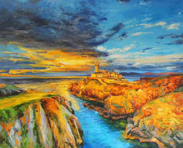 Donegal Painting - Sunset At Fanad Head by Conor McGuire