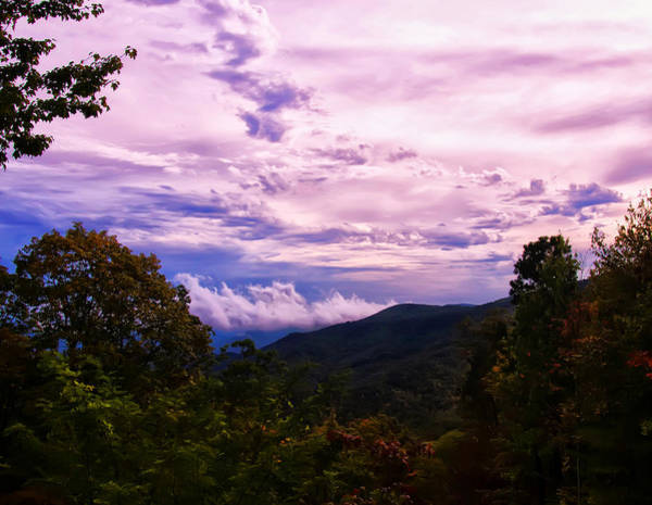 Nc Digital Art - Sunset At Gorges State Park by Chris Flees