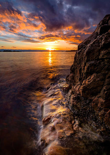 Photograph - Sunset At Gulf Beach Park by Alexis Birkill
