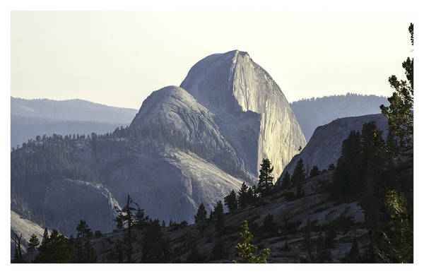 Sunset At Half Dome From Olmsted Pt Art Print