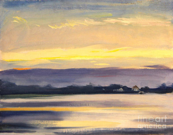 Painting - Sunset At Hamlin Lake 1944 by Art By Tolpo Collection