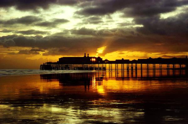 Sunset At Hastings Pier Uk Art Print