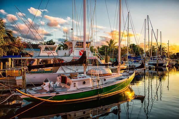 Photograph - Sunset  At Hogfish Marina by Robert FERD Frank