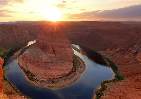 Photograph - Sunset At Horseshoe Bend. by Johnny Adolphson