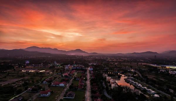 Thailand Photograph - Sunset At Huahin, Thailand by Wittawat Techabunyarat