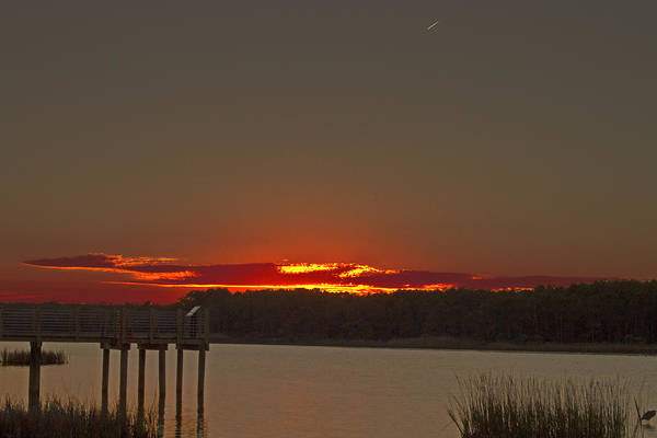 Photograph - Sunset At Huntington Beach State Park by Bill Barber