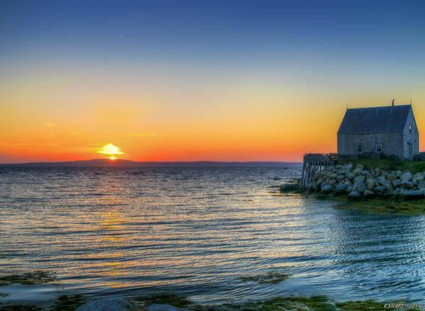 Halifax Nova Scotia Digital Art - Sunset At Indian Harbour by Ken Morris