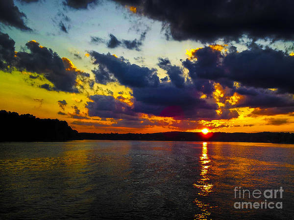 Sunset At Lake Logan Martin Art Print