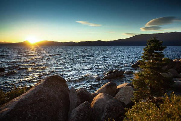 Lake Tahoe Photograph - Sunset At Lake Tahoe by Halbergman