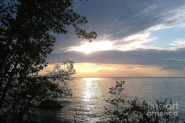 Photograph - Sunset At Lake Winnipeg by Mary Mikawoz