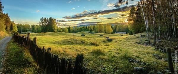 Lillehammer Photograph - Sunset At Maihaugen by Espen Brustuen