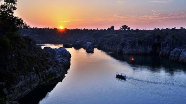 Photograph - Sunset At Marble Rocks - Jabalpur India by Kim Bemis