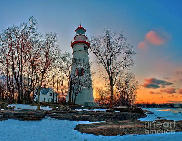 Photograph - Sunset At Marblehead Lighthouse by Nick Zelinsky